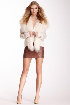 Haute Hippie Bandage Glitter Foil Mini Skirt