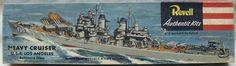 Revell Heavy Cruiser USS Los Angeles (CA-135) Baltimore-class Vintage Model Kit. #16B