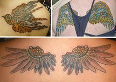 Cogs and Ink: Steampunk Tattoo; I like the clockwork wings