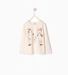 Afbeelding 1 van T-shirt met vlinders van Zara