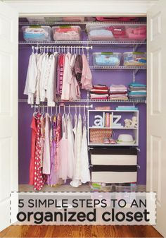 Tired of having a disorganized bedroom closet? Try some of these quick closet organization tips and turn your closet into an organized storage space. Kid Closet, Closet Bedroom, Messy Bedroom, No Closet Solutions, Storage Solutions, Kids Storage, Storage Spaces, Storage Boxes, Storage Ideas