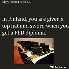 Funny facts:Finland knows how to do it right.