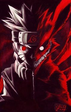 This one actually kinda creeps me out! Sooo cool!!! Naruto & the Nine Tailed Fox