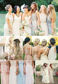 Mismatched Bridesmaid Dresses | Wedding Planner and Coordinator | Katrina Otter Weddings