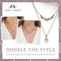 Chloe and Isabel: from the new Nordic Tale collection. Two in one amethyst necklace. #jewelry #chloeandisabel #amethyst