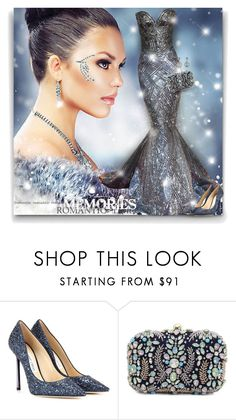 """""""Heavenly shine"""" by elona-makavelli ❤ liked on Polyvore featuring Zuhair Murad, Jimmy Choo and Collette Z"""