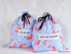 Pink Flamingos - underwear travel bags