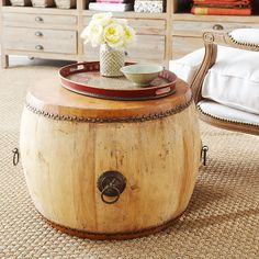 "Wisteria - Furniture - Side Tables & Pedestals -  Drumming Up Side Table - $499.00 - 27.5""dia. x 20""h"