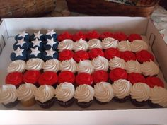 cake from my sons going away party great for the 4th of july also