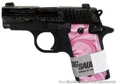 Sig Sauer P238 Engraved w/Pink Pearl Grips, NIB my gift from hubby love it!!!!!