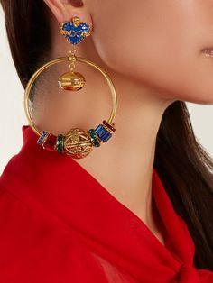 f26da241900 Dolce   Gabbana Charm-embellished drop earrings
