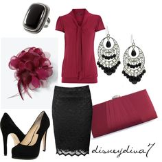 Buy shirts that would fit the season ...darker for winter and light colors for spring/fall Have purses, etc that would match or blend in with the shirt Cute Work Outfits 2012 | Maroon Chic | Fashionista Trends