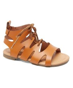 This Tan Lace-Up Sandal is perfect! #zulilyfinds