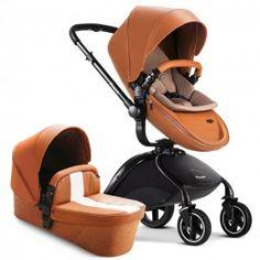 Baby Gear, Pram Stroller, Travel Stroller, Baby Trolley, Landau, Diaper Bags, Baby Prams, White Leather, Pu Leather