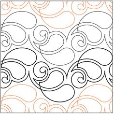 Feathers with a Twist quilting pantograph pattern by Lorien Quilting