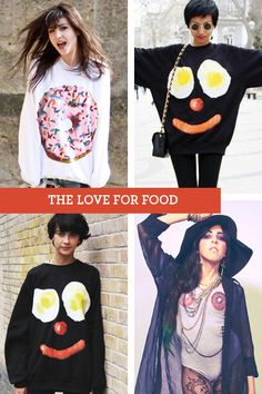 """There are only three things women need in life: food, water, and compliments."" On that note, I want a food sweater. (The doughnut with sprinkles kind.)"