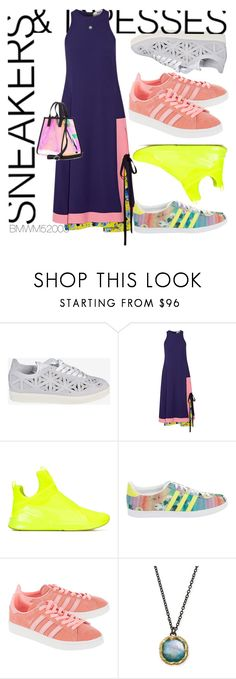 """Variety Sneakers and Dresses"" by bmwm52003 ❤ liked on Polyvore featuring adidas, MSGM, Puma, adidas Originals, Armenta, Kenzo and SNEAKERSANDDRESSES"