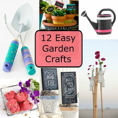 12 Easy Garden Crafts