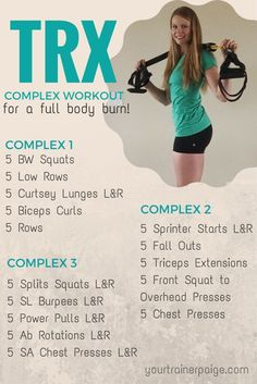 Fitness Motivation : TRX Complex Workout for a Full Body Burn - Your Trainer Paige - Healthy Trx Training, Strength Training, Weight Training, Yoga Flow, Trx Class, Fitness Tips, Fitness Motivation, Trx Fitness, Health Fitness