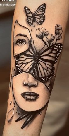Hip Tattoos Women, Chest Tattoos For Women, Dope Tattoos, Badass Tattoos, Body Art Tattoos, Hand Tattoos, Feminine Tattoo Sleeves, Feminine Tattoos, Girly Tattoos