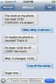 Texts from Mittens - NEW Daily Texts from Mittens: The Broken Clock...