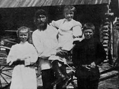 Grigorii Rasputin with his children