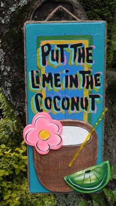 Tropical Paradise Island Beach Pool Patio Tiki Bar Hut House Drink Sign Plaque