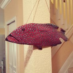 grouper carving palm tree bark carving palm frond by PhishyPalms, $70.00