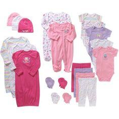 Garanimals Newborn Baby Girl Perfect Shower Gift 21 Piece Set - Walmart.com