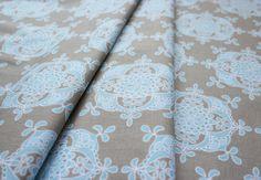 Riley Blake Priscilla Wallpaper Blue C3364