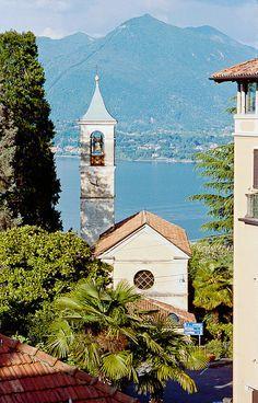View of Lake Maggiore, Stresa, Italy, province of Verbano Cusio ossola , Piemonte