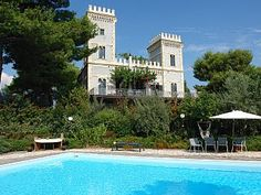 A castle with park,swimming pool and incredible views on sea & volcano EtnaVacation Rental in Acireale from @homeaway! #vacation #rental #travel #homeaway