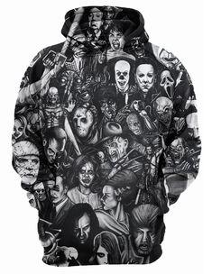 New Hot Fashion Couples Male Female Unisex Horror Skull Print Hoodies Hoody Sweatshirts Jacket Pullover Tops Cheap Hoodies, Cool Hoodies, Hoodie Sweatshirts, Hoody, Types Of Jackets, Men's Jackets, Jacket Types, Cargo Jacket Mens, Bomber Jacket