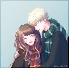 Draco and Hermione Harry Potter Fan Art, Cute Harry Potter, Harry Potter Drawings, Harry Potter Ships, Harry Potter Fandom, Harry Potter Memes, Harry Potter Hogwarts, Draco And Hermione Fanfiction, Harry And Hermione