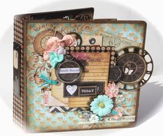"With A Grin: ""Nirvana Family Record"" Mini Album (Scrapbooking Mini Album Kit Available)"