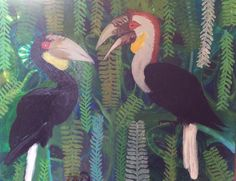 Hornbills painted after recent trip to Ubud. A handsome couple. Creative People, Ubud, Christianity, Handsome, Couple, Studio, Animals, Painting, Art