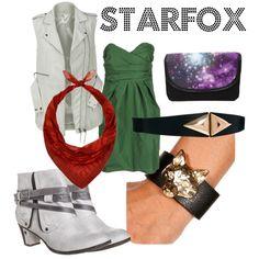 Starfox With a Feminine Twist, created by foxwithlocks on Polyvore