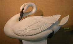 Extra large Curl Neck Swan with carved feathers by Bob Moreland.