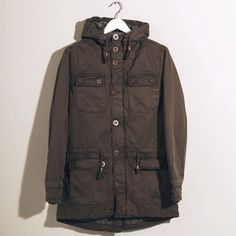 Our canvas military olive quilted Coat Sgt Pepper, Military Jacket, Canvas, Coat, Jackets, Style, Fashion, Swag, Moda