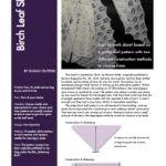 Revised pattern :: Birch Leaf Shawl ::