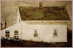 Andrew Wyeth 'Meter Box' 1983 Watercolor on paper Andrew Wyeth Paintings, Andrew Wyeth Art, Jamie Wyeth, Nc Wyeth, Art For Art Sake, American Artists, Landscape Paintings, Barn Paintings, Les Oeuvres