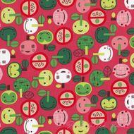 Appleville pink apples (Robert Kaufman)