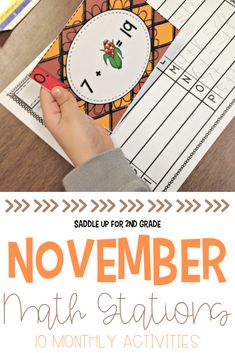 These Thanksgiving math stations are great for 2nd and 3rd grade students this fall! With a few ways to practice addition, subtraction, and a variety of other math skills, they're perfect activities for math centers. #mathstations #2ndgrademath