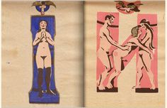 Erotic alphabet book printed in the Soviet Union circa made to combat adult illiteracy. By the sculptor and future People's Artist of the USSR Sergei Merkurov Images Alphabet, Alphabet Book, Russian Alphabet, Punk Princess, Museum Of Fine Arts, Soviet Union, Erotic Art, New Art, Illustration