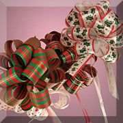 """5-1/2"""" Christmas Poly Pull Bows"""