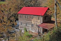 """The mill was built in 1881 on Big Creek that flows to the Dan River.   In 2000, the mill was renovated to be a """"second"""" home.  The mill is on the National Register of Historic Places."""