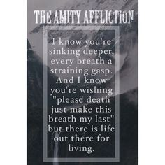 The Amity Affliction, I've seen them twice live. Their music is absolutely amazing.