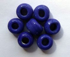Crow Beads Dark Blue Opaque size 9mm x 6mm with a 3mm hole