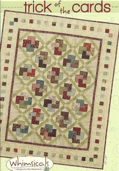 Primitive Folk Art Quilt Pattern  TRICK of the por PrimFolkArtShop, $9.75