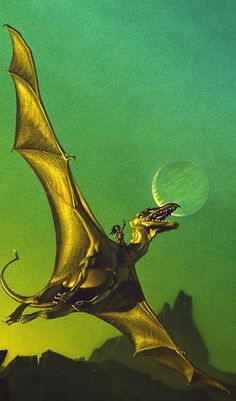 ☆ Dragonflight -Detail 2- By Artist Michael Whelan ☆